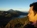 Sunrice in the morning at Bromo Mountain