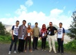 Volunteer Behind Bromo Mountain